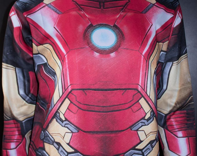 TAFI Iron Man Shirt - 2018 Avengers Infinity War Marvel Comics Custom Design Tony Stark Super Hero Costume CosPlay Print
