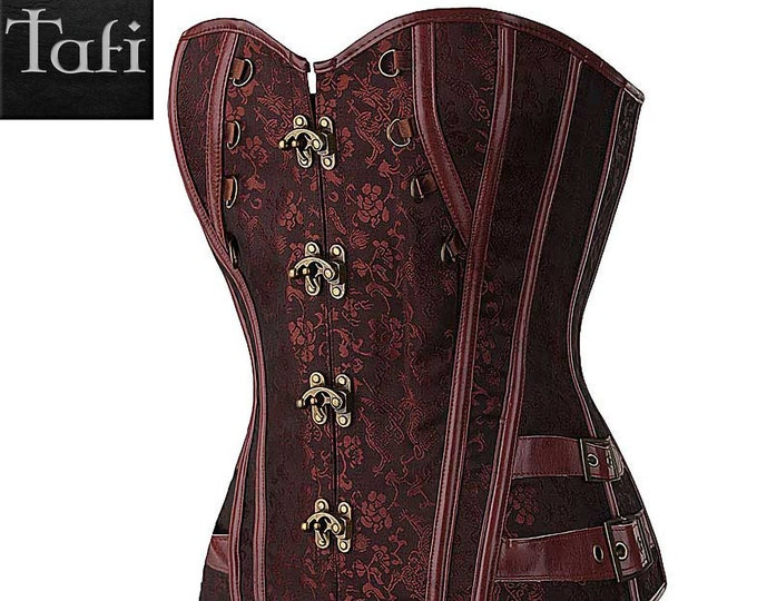 Corsets - Steampunk - TAFI Bustier in 2 Styles - Optional Skirt Dress Set - Retro Costume Vintage Western Fantasy Fashion Cosplay Cincher