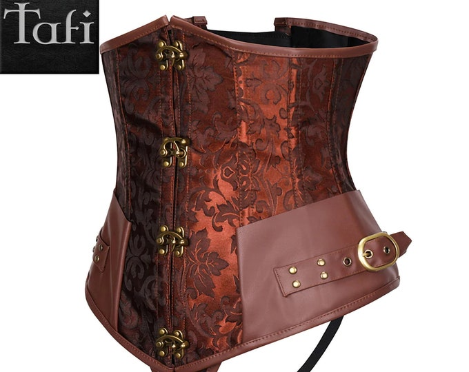 Corsets - Steampunk - TAFI Cincher 9 Sizes 2 Styles Optional Skirt Dress Set - Retro Costume Vintage Western Fantasy Fashion Cosplay Basque