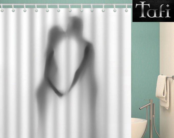 Shower Curtain - 9 Romantic Love Styles - Designer 3D Print Bath Decor Curtains - Waterproof Mildewproof Polyester - In 4 Bathroom Sizes