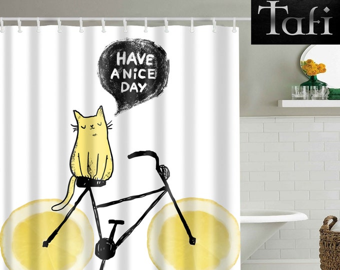 Shower Curtain - 9 Animal Family Prints - Designer Style Bath Decor Curtains - Waterproof Mildewproof Polyester Cats Zoo - 4 Bathroom Sizes