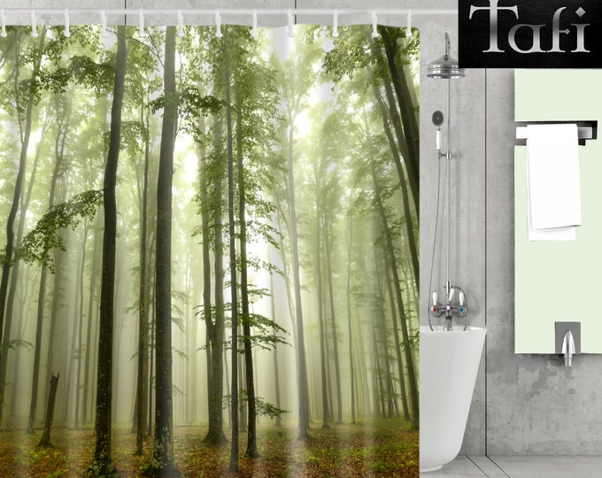 Shower Curtain - 9 Forest Prints - Designer Style Bath Decor Curtains - Waterproof Mildewproof Polyester Trees Autumn - 4 Bathroom Sizes