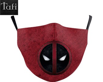 NEW Deadpool Masks - Cloth Washable Reusable Shopping Facemask uses PM2.5 Filter - Marvel Comics Wade Wilson X-Men Wolverine Mask Designs!