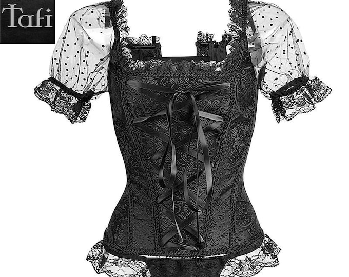 Corsets - Chatelaine - TAFI Bustier in 4 Styles 9 Sizes  - Optional Skirt Dress Set Retro Vintage Costume Burlesque Fashion Cincher Cosplay