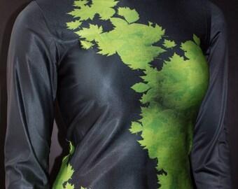 TAFI Poison Ivy Shirt - Batman Gotham Pamela Lillian Isley Costume DC Comics Super Hero New 52 CosPlay Print