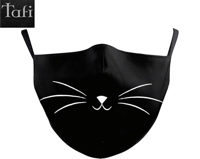 Cloth Masks - 6 Cute Styles - Washable Reusable Fashion Shopping Designer Facemask - Works with PM2.5 Filter - Cat Puppy Print Design