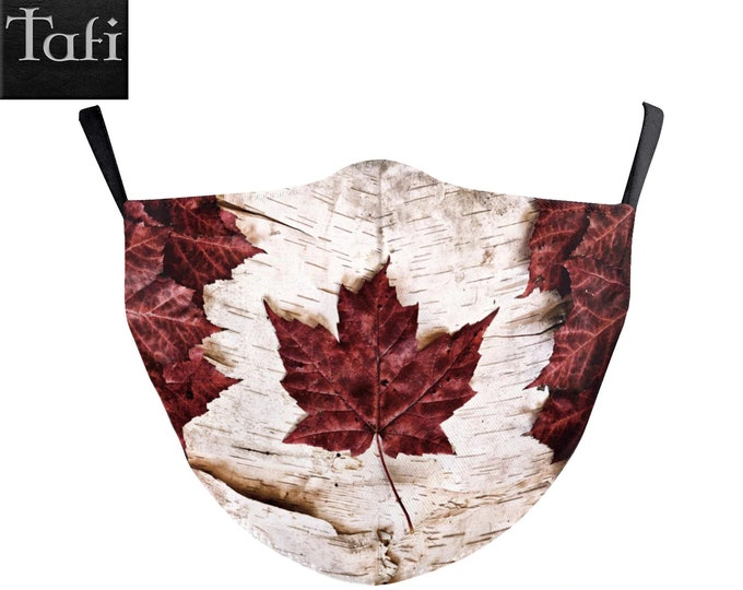 SPECIAL! Canada Strong Mask - Cloth Washable Reusable Fashion Shopping Designer Facemask - PM2.5 Filters -Canadian Flag Maple Leaf Design