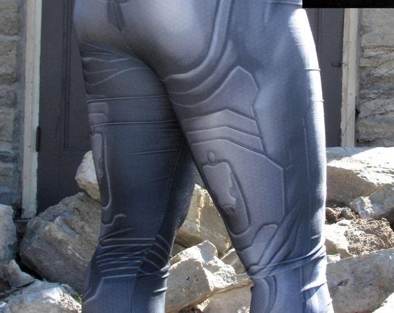 TAFI Halo Suit Leggings - Sci-Fi Body Armor Undersuit Video Game-inspired Costume Yoga Pants Galaxy CosPlay Print