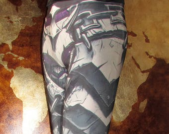 NEW! TAFI Horde Armor Leggings - World of Warcraft Fantasy Armour Costume Yoga Pants Galaxy CosPlay Print