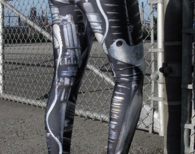 TAFI Machine Leggings - Steampunk Dieselpunk Mechanical/Robot Cyborg Costume Yoga Pants Galaxy CosPlay Print - Size S-M