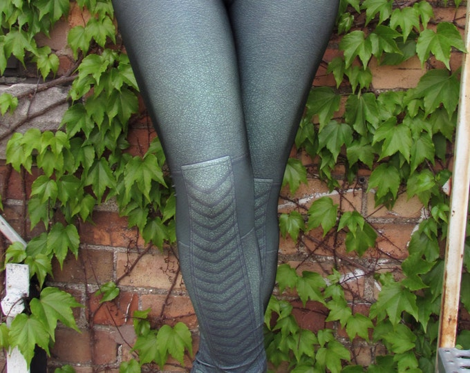 TAFI Green Arrow Leggings - Artemis or Oliver Queen Archer Costume Yoga Pants Galaxy DC Super Hero CosPlay Print