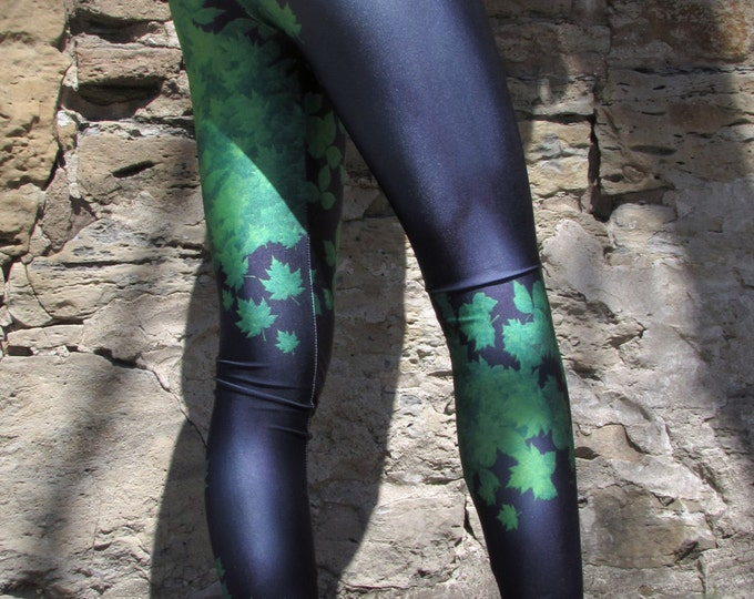 TAFI Poison Ivy Leggings - Batman New 52 Costume or Yoga Pants Galaxy DC Joker Super Hero CosPlay Print