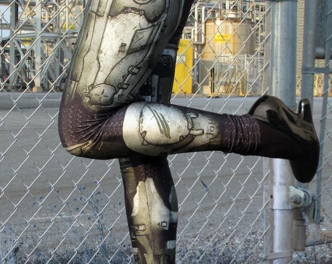 TAFI Halo Spartan Leggings - Sci-Fi Body Armor Video Game-inspired Costume Yoga Pants Galaxy CosPlay Print