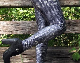 TAFI Shadow Lizard Print Leggings Reptile Skin Dragon Scale Cosplay Costume Limited Edition Design Galaxy Yoga style Pants