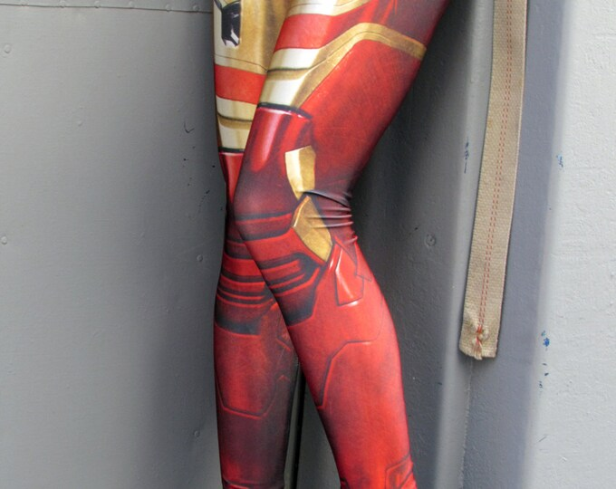 TAFI Iron Man Armor Leggings - Avengers Infinity War Spider-Man Homecoming Captain America Marvel Pants Super Hero CosPlay Print