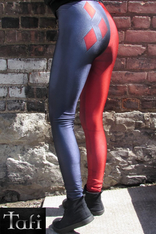 620ef1cd1c27 TAFI Harley Quinn Comic Leggings Batman Dr Quinn Suicide