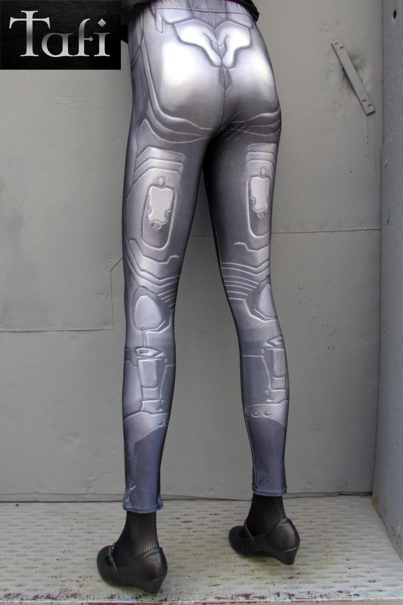 TAFI Halo Suit Leggings Sci-Fi Body Armor Undersuit Video Game-inspired Costume Yoga Pants Galaxy CosPlay Print