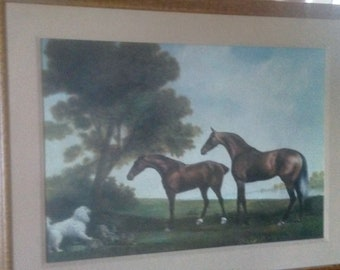 Canvas Paper A4 or A3 Matt HOUND COURSING A STAG by George Stubbs Glossy