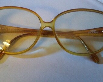 062285dfc234 Vintage Christian Dior Honey Colored Frames Eyeglasses  Model Number 2872
