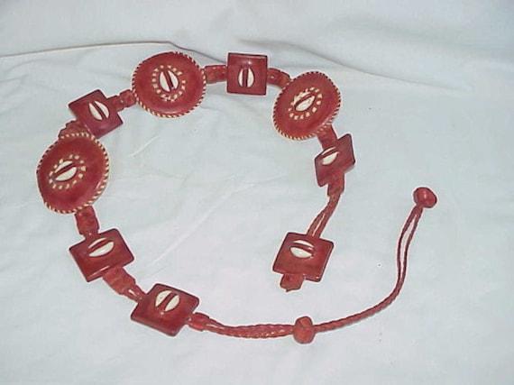 1980's African Made Belt