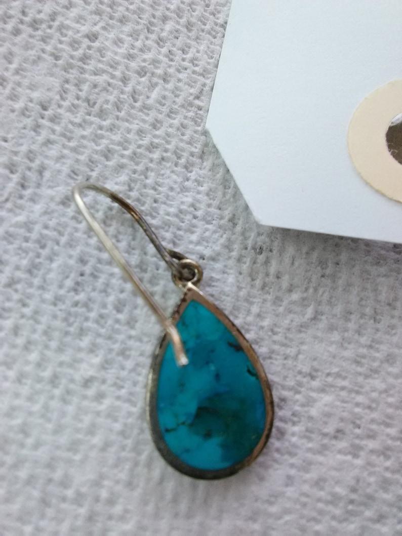 Sterling Silver Tear Drop Earrings Marked 925