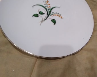 Vintage Knowles's Forsythias Dinner Plate