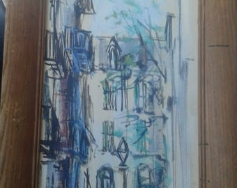Vintage 1960's Impressionist Painting On Board /Signed  Lila
