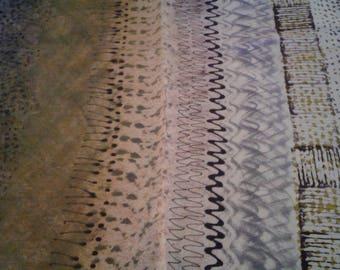 Tye Dyed Scrap Fabric