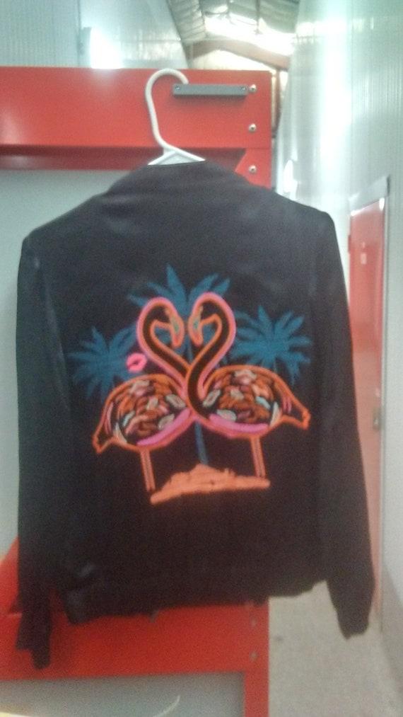 Small Size 4 Black Flamingo Jacket