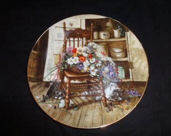 Vntage 1990 Country Cuttings Plate/ W.S. George