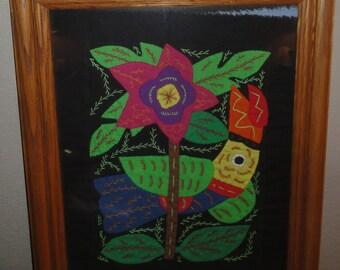 Flower Quilt Picture/Framed