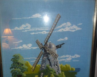Dutch Windmill Needlepoint