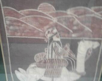 Moroccoan/ Bohemian Batik/ Camel Rider/Camel/Sand Dunes/Moon