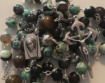 Brown and Green Rosary