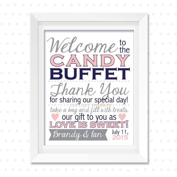 candy buffet zeichen candy bar schild hochzeit candy buffet etsy. Black Bedroom Furniture Sets. Home Design Ideas