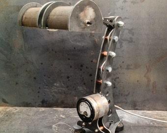 Steampunk Lamp, Industrial Lamp, Machine Age Lamp,