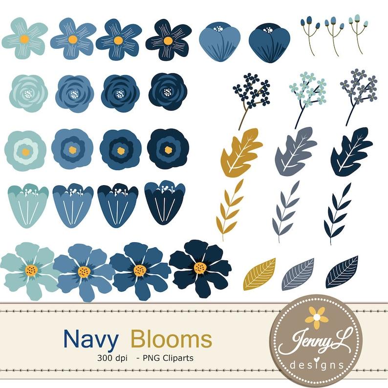 Wedding, 40/% OFF Navy Blue Flower Elements Clipart Floral Arrangement for digital Scrapbooking Navy Blue Flower Wedding Flowers