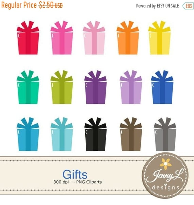 40 OFF Gifts Clipart Present Birthday Gift For Planners