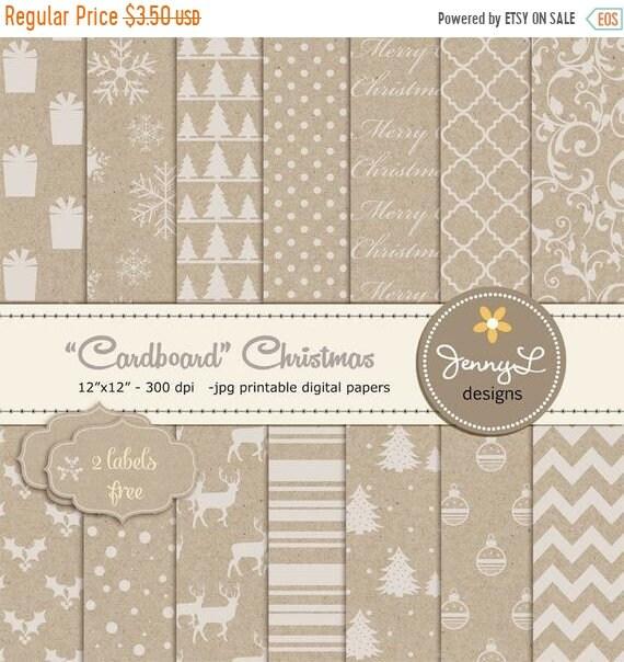5c2f86246797 40% OFF Christmas Digital Paper Cardboard Kraft Christmas