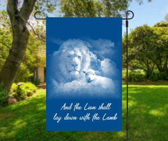 Lion and the Lamb High Quality Garden Flag