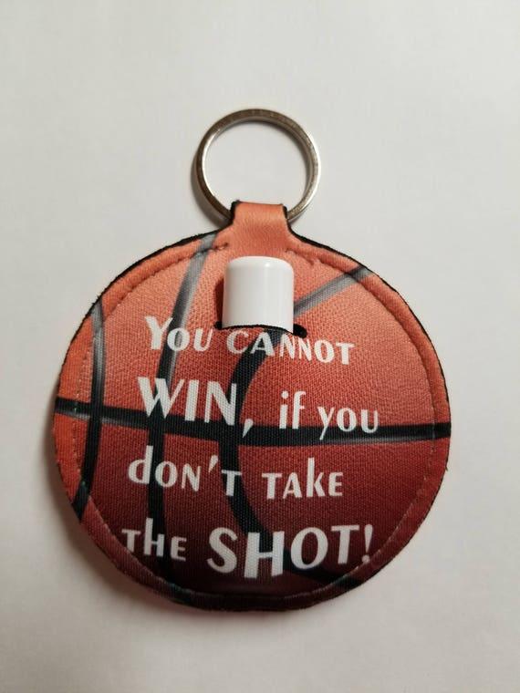 LIP BALM HOLDER - Lip Balm Key Ring - Basketball Key Ring - Stocking Stuffer -  Coach Gift - Basketball Team Gift - Basketball Player Gift