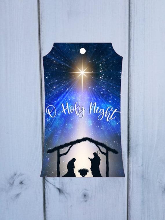 O Holy Night Door Hanger for ADC Blanks Digital Download