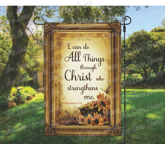 DIGITAL DOWNLOAD - I Can Do All Things Garden Flag Sublimation Template