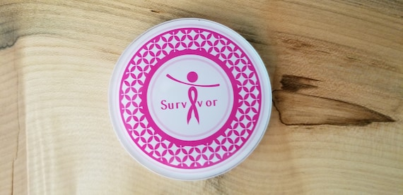 Breast Cancer Survivor Coaster - Breast Cancer Awareness Coaster - Pink Cancer Ribbon - Cancer Free Coaster - Survivor Celebration Coaster
