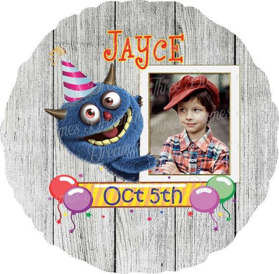 Home Board Photo Discs for Birthdays Bundle of 4 Designs- Custom Photo Birthday Discs for Home Boards Birthday Celebration