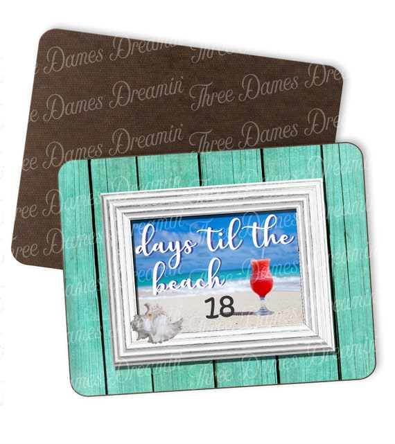 Digital File - Days til The Beach Countdown Dry Erase Board - 8x10 Dry Erase Board Counting Days to the Beach