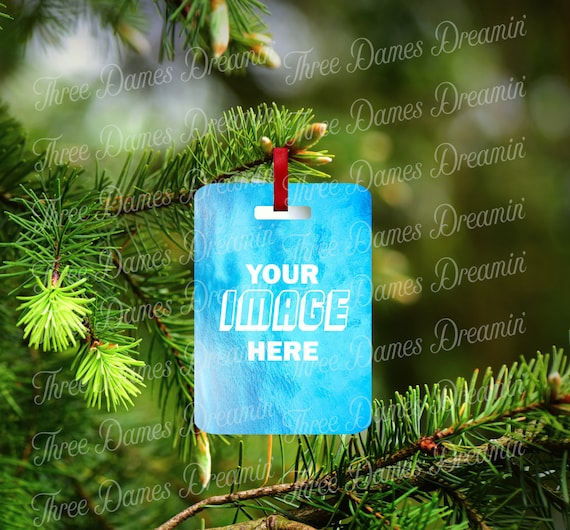 LUGGAGE TAG Mock-Up for Rectangular Luggage Tag -  Template Digital Download - Bag Tag Mock-up - Add your own image!