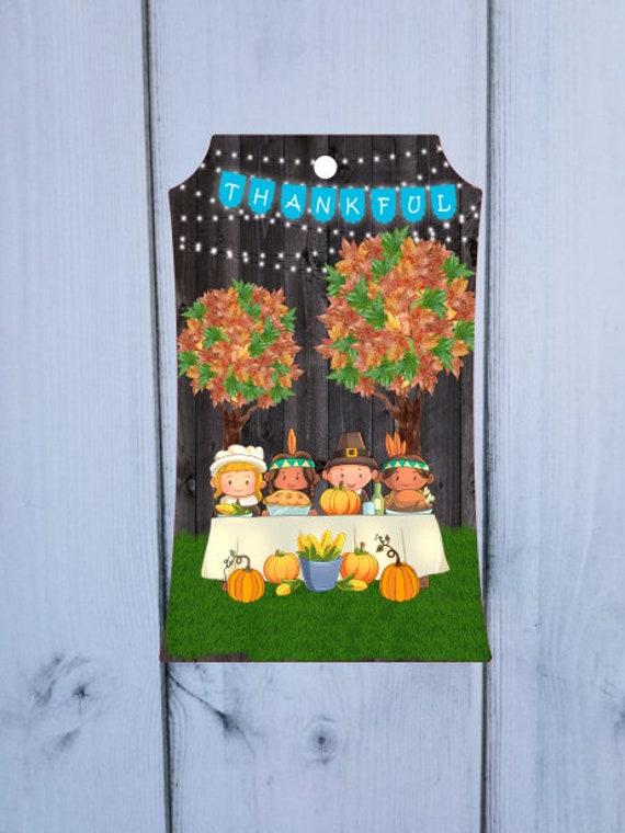 Pilgrim Thankful Thanksgiving Autumn Decor Door Hanger  Digital Download