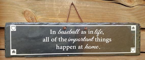 BASEBALL SIGN - Baseball Slate - Slate Sign - Boy's Room Decor - All Star Sign - Home Plate - Locker Room - Baseball Decor - Baseball Batter