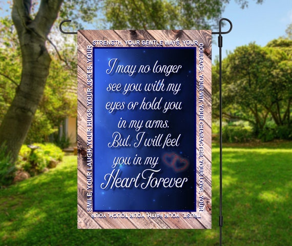 Memorial Cemetery Bereavement Hold You in My Heart Garden Flag Digital Download - Sublimation Template